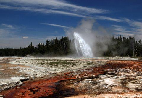 Body of water, Nature, Natural landscape, Liquid, Fluid, Geyser, Geology, Spring, Wilderness, Hot spring,
