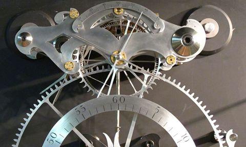 Circle, Rim, Spoke, Space, Home accessories, Steel, Silver, Engineering, Clock, Aluminium,