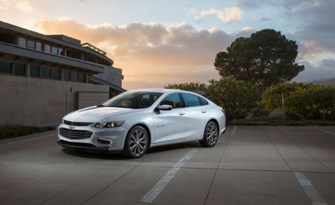 "<a href=""http://www.caranddriver.com/news/2016-chevrolet-malibu-photos-and-info-news"" target=""_blank"">Chevy's newest Malibu</a> has everything a car needs to compete in this segment: style, technology, and an available <a href=""http://www.caranddriver.com/news/2016-chevrolet-malibu-hybrid-photos-and-info-news"" target=""_blank"">hybrid powertrain</a>. We haven't driven it yet, however, so it remains unranked until we can evaluate it with the same thoroughness as the other cars featured in this list. What we can tell you is that the multitasking <a href=""http://www.caranddriver.com/chevrolet/malibu"" target=""_blank"">Chevy Malibu</a> is poised to appeal to a broad range of buyers. A pair of turbo four-cylinders is offered—a 160-hp 1.5-liter with a six-speed automatic and a 250-hp 2.0-liter with an eight-speed. A hybrid pairs a 1.8-liter four with two electric motors. Onboard Wi-Fi, lots of active safety gear, and a touch-screen interface make the Malibu a tech dynamo while the sleek design earns a few style points. Look for it in late 2015."