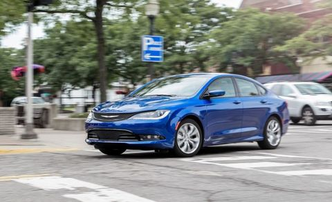 """The <a href=""""http://www.caranddriver.com/chrysler/200"""" target=""""_blank"""">Chrysler 200</a> is that brand's new entry in a fiercely competitive mid-size-sedan segment. Basically, it's a stretched Dodge Dart with a nicer interior and stylish sheetmetal. A 2.4-liter four-cylinder is standard, and a 3.6-liter V-6 is available. Front-wheel drive is standard on both engines&#x3B; the V-6 offers all-wheel drive, which is unique in this segment. A nine-speed automatic handles shifting duties. Too much weight, slow steering, and a lack of precision keep the V-6 from being a performance standout."""
