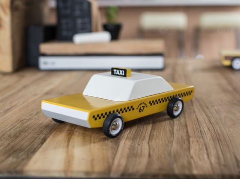 "For example, the ""Candycab"" pays tribute to the late 1960s yellow taxis that were commonplace in any bustling city. There's also the ""Camper,"" a rounded vintage trailer and, of course, the ""Woodie,"" the iconic flat-top car complete with wooden sides."