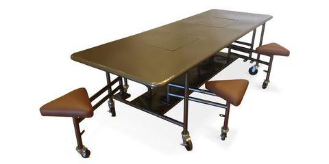 Product, Table, Furniture, Floor, Line, Rectangle, Plywood, Hardwood, Metal, Outdoor furniture,