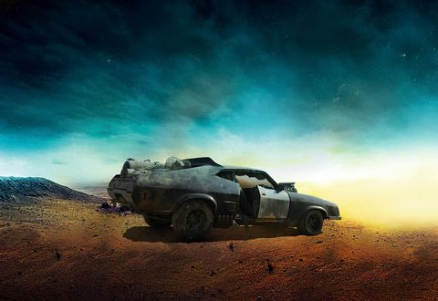 "<em>Mad Max</em> would only be <em>Slightly Peeved Max</em> if he didn't drive the classic 1974 Ford XB Falcon. And the Falcon is back—as it has been for every film in the series. But it's been beat up, sandblasted, rusted, and left to rot in the most gloriously cinematic of ways. ""A legend spotted in the gutter,"" explains designer Colin Gibson, ""rusted through and rattling with too many repairs and far too few original parts."" Still, the supercharger is intact and it is the <a href=""http://www.caranddriver.com/comparisons/third-place-mad-max-ford-falcon-interceptor-page-4"" target=""_blank"">last of the V-8 Interceptors</a>. It wouldn't be a <em>Mad Max</em> movie without it."