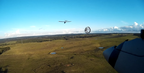 Drone docking with drone
