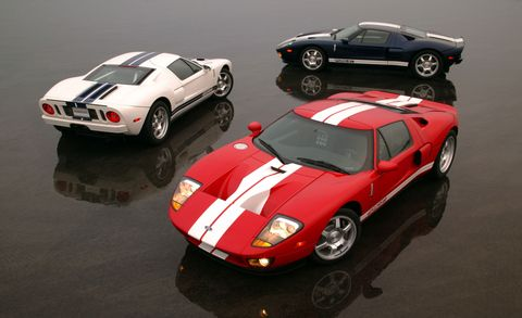 2004 Ford GT models shown