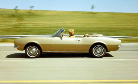 Alongside the coupe, Chevrolet offered the Camaro as a convertible. Priced roughly $240 more than the coupe, just 25,141 convertibles were part of 1967 Camaro production.