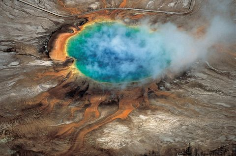 Geology, Teal, Turquoise, World, Volcanic field, Geological phenomenon, Space, Hot spring, Natural material, Mineral spring,