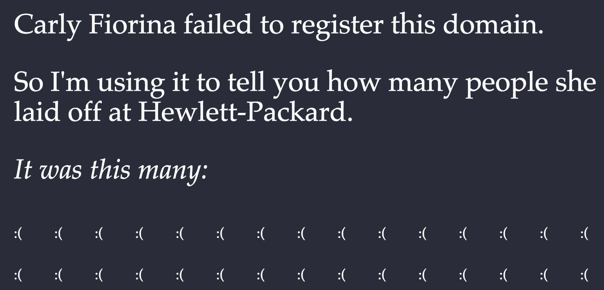 Presidential Candidate Carly Fiorina Fails to Register Domain Name, Gets Masterfully Trolled