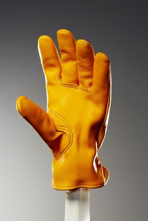 Churchill had come down from Ontario, and the timber industry was booming. The men in the timber mills needed to protect their hands, and so Churchill used his stash of tough yet soft and pliable elk and deer leather to make work gloves. From the timber business a glovemaking business was born.