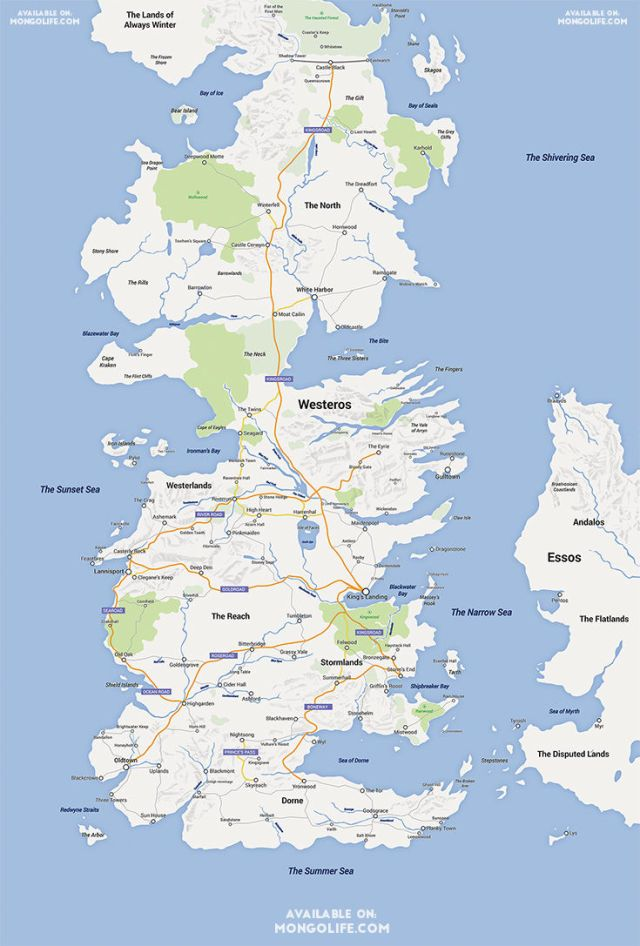 The world of westeros done google maps style the best way from winterfell to lannisport well you could head south on the kingsroad and jump off on the path to the twins but weve been having some gumiabroncs Gallery