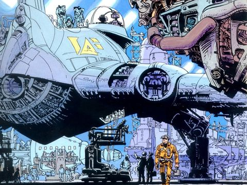 Space, Art, Illustration, Drawing, Fictional character, Machine, Painting, Graphics, Graphic design, Fiction,