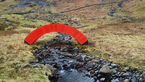 Landscape, Parachuting, Paragliding, Stream bed, Geology, Parachute, Stream, Arroyo, Fell, Adventure,