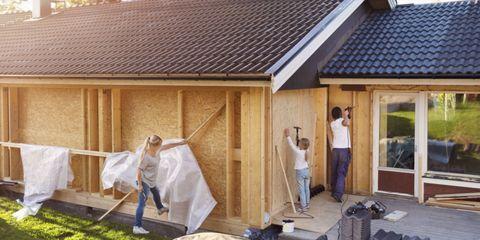 House, Door, Roof, Cottage, Hut, Village, Outdoor structure, Lumber, Shed, Garden buildings,