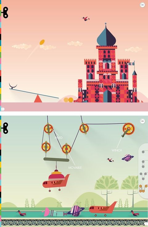 Pink, Colorfulness, Orange, Illustration, Rectangle, Peach, Tower, Painting, Flight, Graphics,