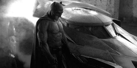 Batman, Fictional character, Armour, Superhero, Motorcycle helmet, Windshield, Monochrome, Justice league, Costume, Action film,