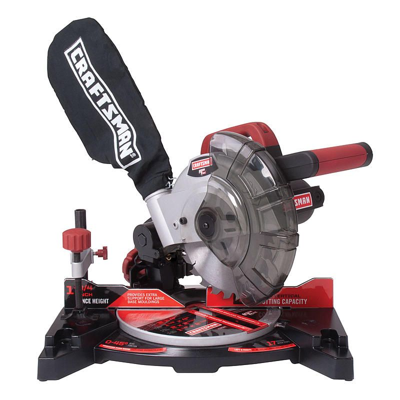 Price: $70  7 1/4-in. compound miter saw   7 amps  <strong>Maximum Capacity</strong>  • Straight crosscut, no bevel: 2 x 4 in.   • 45-degree miter, no bevel: 2 x 27/8 in.