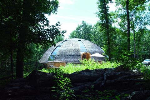 Landscape, Rural area, Biome, Sunlight, Jungle, Hut, Woodland, Dome, Dome, Old-growth forest,