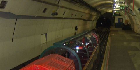Infrastructure, Ceiling, Tunnel, Parallel, Engineering, Concrete, Water transportation, Steel, Subway, Coquelicot,