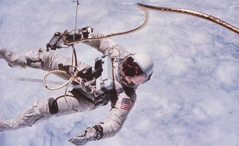 UNSPECIFIED - JUNE 01:  Gemini 4 astronaut Edward H. White II floating in space during first American spacewalk.  (Photo by James A. McDivitt/The LIFE Picture Collection/Getty Images)