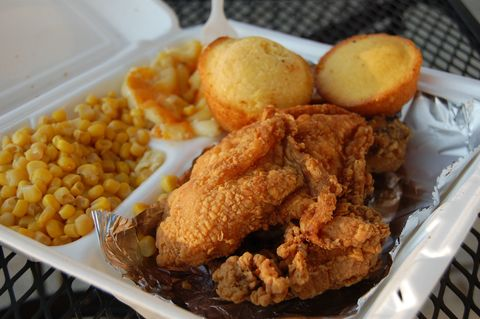 Food, Tableware, Fried food, Dish, Cuisine, Corn kernels, Chicken meat, Recipe, Cooking, Deep frying,