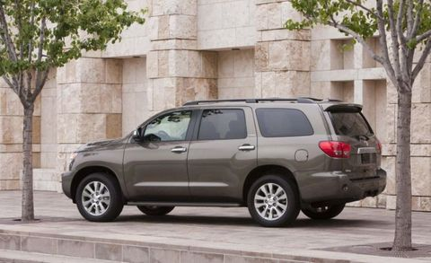 While capable off-road, the suspension has an unsettled ride on uneven pavement and the interior quality is not up to class standards. The Sequoia will meet the needs of most buyers in terms of space and capability, however.