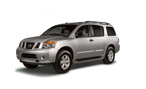 "Once a standout, <a href=""http://www.caranddriver.com/nissan/armada"" target=""_blank"">the Nissan Armada</a> is now a bit of an also-ran thanks to rivals sporting newer and better technology. It's powered by a thirsty, 317-hp 5.6-liter V-8 with a five-speed automatic and can be had with either rear- or four-wheel drive. Its 9000-pound towing capacity puts it at the top of the class, though, and the independent rear suspension delivers a compliant ride."