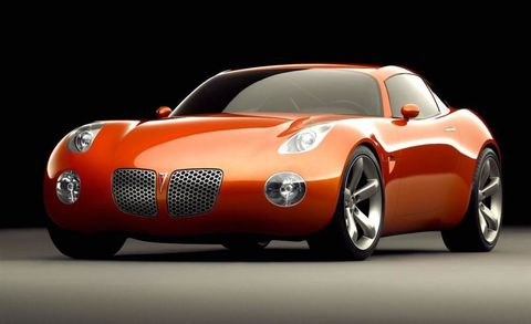 "Created in 18 weeks under the direction of ex-Chrysler (now GM) product savior Bob Lutz, the Solstice coupe is rushed onto our <a href=""http://www.caranddriver.com/news/pontiac-solstice-news"">April 2002 cover</a> as we boldly declare that GM has emerged from its styling doldrums."