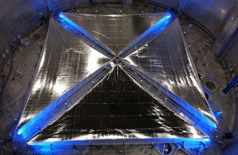 Blue, Majorelle blue, Electric blue, Cobalt blue, Triangle, Space, Symmetry, Transparent material,