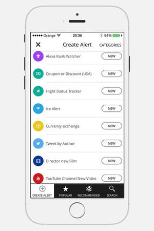 """<strong>Available on:</strong> <a href=""""https://itunes.apple.com/app/id923353363"""" target=""""_blank"""">iOS</a> <strong>Price:</strong> Free <strong>Publisher:</strong> Oleg Kozynenko Hooks is an iOS app for creating custom alerts for just about anything, including sports scores, weather reports, lottery results, and product release dates.  There are more than 100 channels that users can subscribe to for notifications, and new ones are added on a weekly basis.  <a href=""""http://www.digitalspy.com/companies/apple/""""><strong>Apple</strong></a> Watch support allows users to receive their personalized alerts on their wrist."""