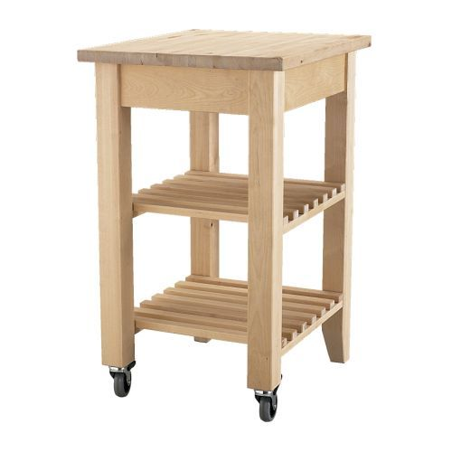 "<p>The no-nonsense <a target=""_blank"" href=""http://www.ikea.com/us/en/catalog/products/30240348/"">kitchen island</a> is convenient, if a bit spare.</p>"