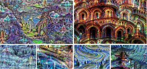 Colorfulness, Landmark, Art, Byzantine architecture, Majorelle blue, Visual arts, Illustration, Historic site, Symmetry, Painting,