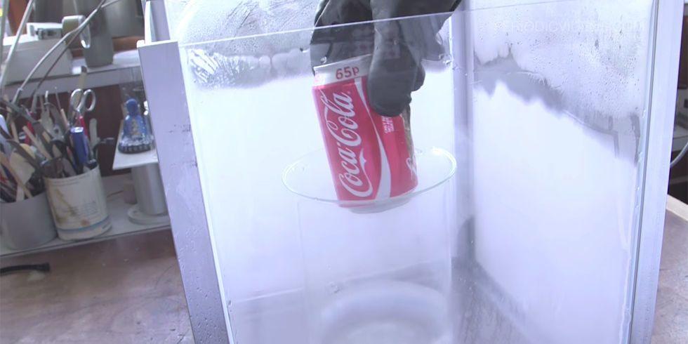 Watch What Happens When a Can of Coke Meets Liquid Nitrogen