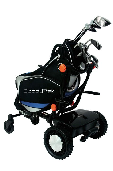 "The <a target=""_blank"" href=""https://www.caddytrek.com/store/caddytrek-r2/"">CaddyTrek R2</a> disrupts a profession that seemed timeless. It is, as the the name suggests, a robotic caddy. Why would you need a robot caddy? Because one exists. With a lightweight but powerful 24-volt onboard lithium-ion battery, CaddyTrek can carry your clubs for 27 holes at speeds up to 4 miles-per-hour, with a follow distance of 6 paces. With three settings (remote control, push, and follow) and a range of 100 feet, it seems the only thing CaddyTrek won't do is offer tips on how to get out of that sand trap. When it's time to head home, the CaddyTrek folds down small enough to fit into a trunk. <strong>$1,495</strong>"