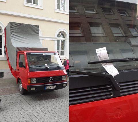 Surrealist Truck Sculpture Gets a Parking Ticket