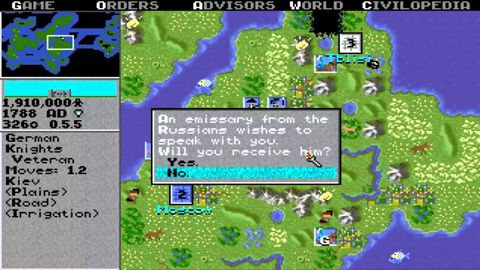 "The <em>Civilization </em>franchise is still going strong, but this 24-year-old game is the original. Expand your empire. Grow your influence. Declare war. Declare peace. And do it with a more unfamiliar interface than you've seen for diplomacy, or lack thereof. <a target=""_blank"" href=""http://www.myabandonware.com/game/sid-meier-s-civilization-1nj"">Click here</a> to play the game in browser (or to download it)."