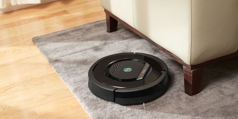 """Perhaps the most popular and recognizable helper robot on the market, the Roomba is still the gold standard of 'bots that make the average human's life easier. And now 13 years into its autonomous room-cleaning run, the Roomba is better than ever with its <a target=""""_blank"""" href=""""http://www.irobot.com/For-the-Home/Vacuum-Cleaning/Roomba.aspx"""">800 Series</a>, capable of collecting up to 50 percent more dirt, dust, hair, and debris than the original. If for some reason you're not familiar with the Roomba, this round little robot scoots around your house, autonomously vacuuming wherever it goes. It's programmable to clean on a schedule or on a whim. You never have to hunt around your house for a wayward or rebellious Roomba; it'll return to the dock and charge itself between cleanings—and alert you when its dust bin is full. <strong>$670</strong>"""