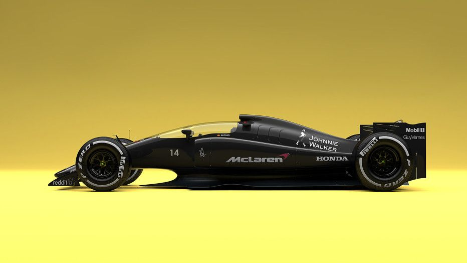 The design of Formula 1 cars is hemmed-in and rigid, resulting in world-class racers don't always look the part. It doesn't have to be that way. Designer Andries van Overbeeke ignored the rules and conjured up amazing concept cars for the McLaren-Honda, Red Bull, and Williams teams, seen here.