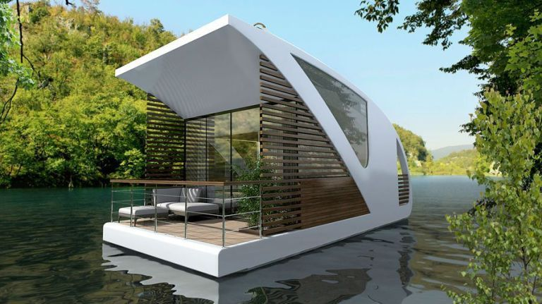Sleep on the Water at This Super-Sleek Boatel