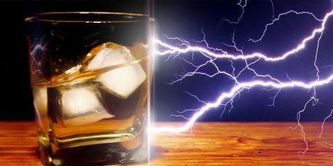 Fluid, Liquid, Thunderstorm, Storm, Thunder, Lightning, Light, Electricity, Electric blue, Drinkware,