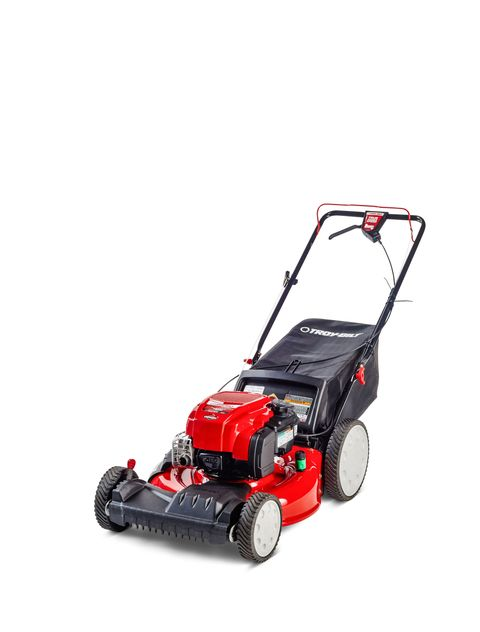 <strong>Engine</strong>: 159-cc <strong>Functions</strong>: Bags, mulches, side-discharges <strong>Drive</strong>: Front <strong>Deck levers</strong>: Two <strong>Likes</strong>: Essentially identical to the Cub Cadet, this mower gets high marks for the same features. It's a solid machine that cuts well and has enough versatility to see you through all three mowing seasons, from the first cut in the spring to bagging leaves in the fall. <strong>Dislikes</strong>: The drive control takes time to master.