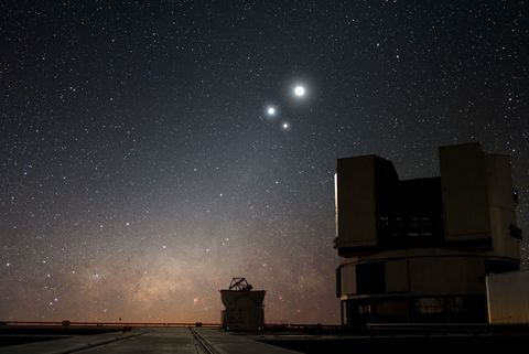 Night, Sky, Astronomical object, Atmosphere, Atmospheric phenomenon, Star, Space, Road surface, Astronomy, Darkness,