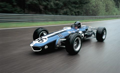 An American, Dan Gurney, built this car. An American, Gurney, also won a Formula 1 race in this car. That's as good as it gets. The 3-liter, 11,000 RPM, 410 hp, 60-degree V12 and evil shark-torpedo looks are icing on the cake.  <em>Photo: John Lamm</em>