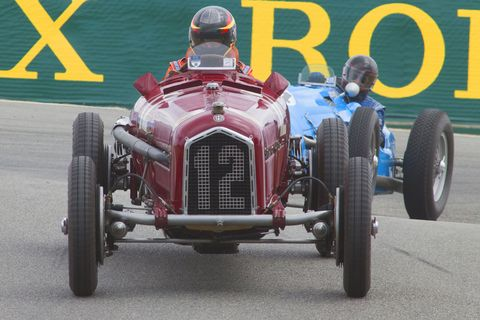 Famed engineer Vittorio Jano designed the Alfa Romeo P3—also called the Tipo B—for the 1932 Grand Prix season and it won first time out. This one is shown here being driven by Jon Shirley at the Rolex Monterey Motorsports Reunion.