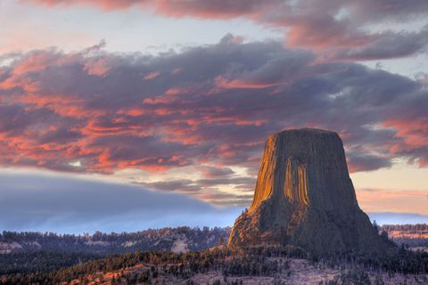 """<p>Your jaw will drop when you catch the first glimpse of Devils Tower, the wild geologic feature rising from an open prairie surrounding the Black Hills in Wyoming. It's considered a sacred site to local tribe, but it's also a must-do for visiting rock climbers, thanks to its arrangement of parallel cracks. Those not inclined to dangling perilously can also enjoy ranger tours, camping, hiking—and epic selfies.</p><p><a target=""""_blank"""" href=""""http://www.nps.gov/deto/index.htm""""><em>Get more information about Devils Tower.</em></a></p>"""