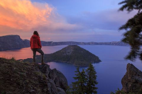 "<p>Created by a violent volcanic eruption some 7,700 years ago, Oregon's Crater Lake is a 1,943 foot deep crystal clear lake surrounded by sheer cliffs and old growth ponderosa pine. <a target=""_blank"" href=""http://www.hipcamp.com/or/southern-oregon/crater-lake"">Crater Lake National Park</a> offers a great many outdoor activities—in addition to simply gazing across the 6 mile wide crater—including swimming, exploring Wizard Island and hiking a portion of the legendary Pacific Crest Trail.</p>"
