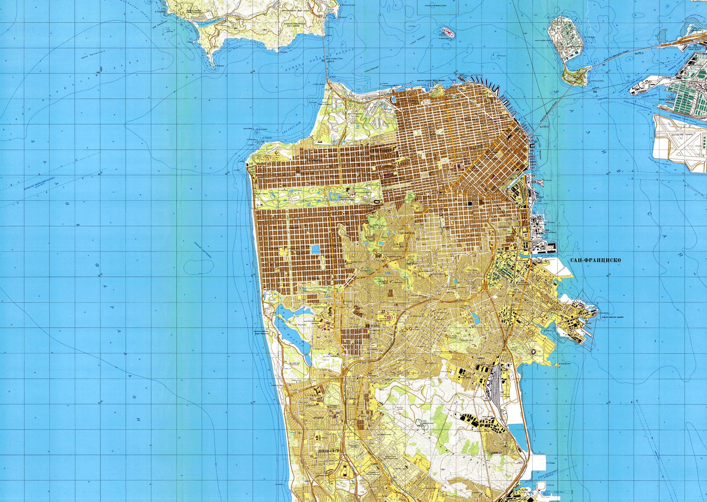 These Soviet Maps of America Are Incredibly Detailed