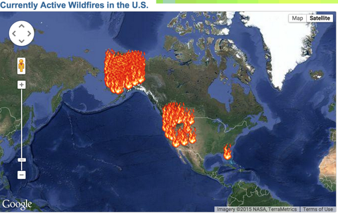 An Interactive Map That Shows All The Places The Us Is On Fire - Google-us-map