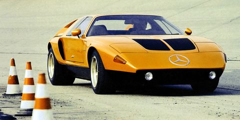 <p>A series of experimental rotary-powered supercars from Mercedes, they ran and drove, but they never went on sale.</p>