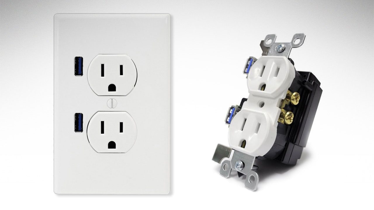 Usb Receptacle Wiring Diagram Modern Design Of Micro Connector Install An Electrical Outlet With Built In Ports Rh Popularmechanics Com Plug
