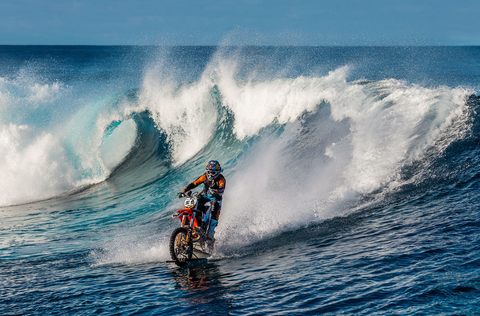 Watch This Guy Go Surfing on a Dirtbike